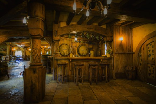 Interior of Green Dragon inn at Hobbiton