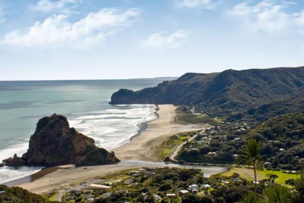 Piha Beach and Lion Rock