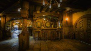 Interior of Green Dragon inn at Hobbiton