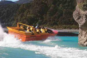 jet boating on the alpine safari