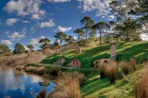 hobbiton movie set on a tour from auckland to hobbiton