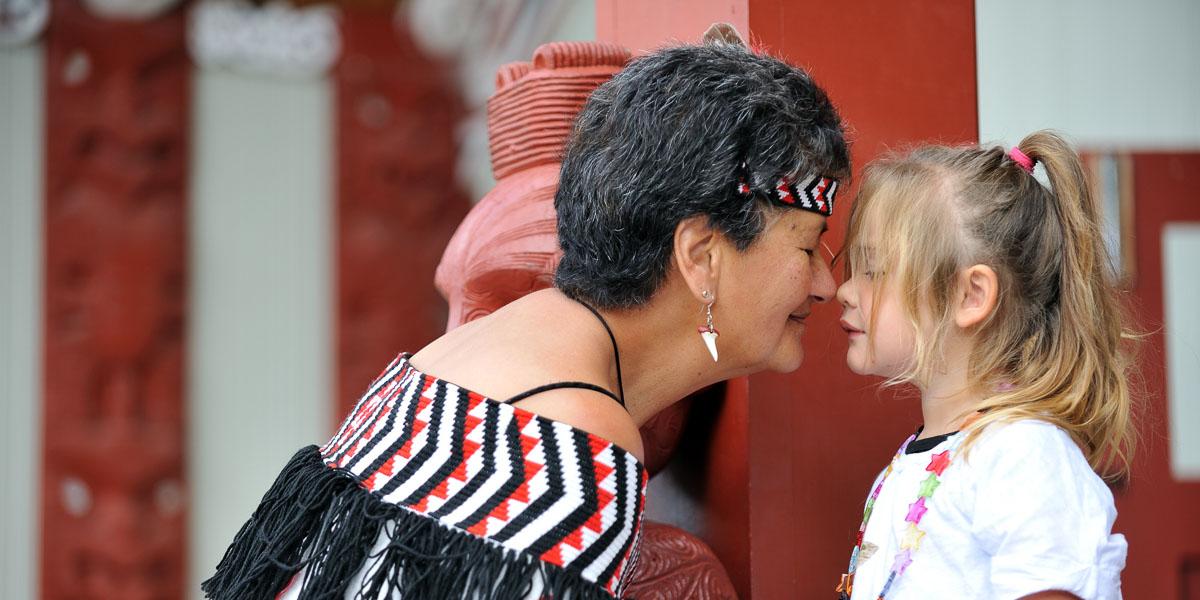 Maori greeting at Te Puia on a Rotorua day trip